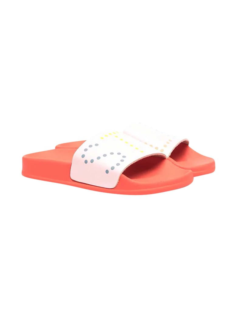 Stella McCartney Kids Pink Slippers With White Logo Band - Rosa