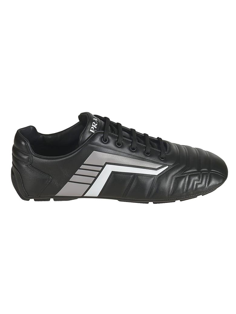 Prada Padded Logo Sneakers - Grey