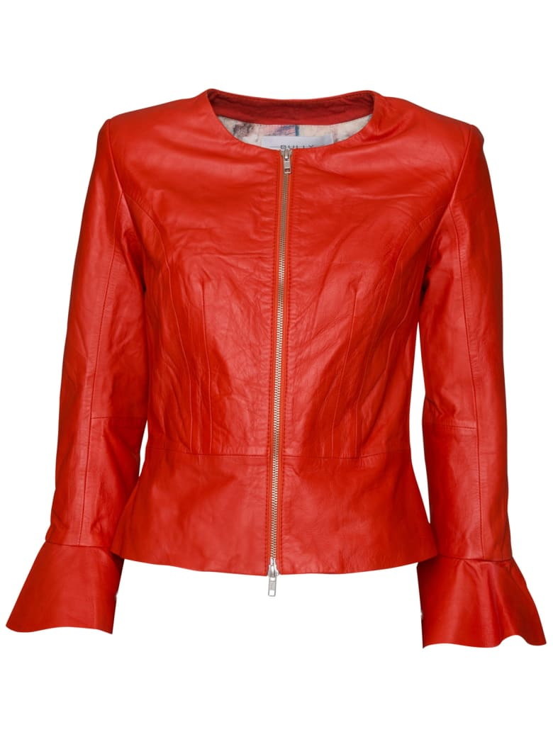 Bully Leather Jacket - ROSSO