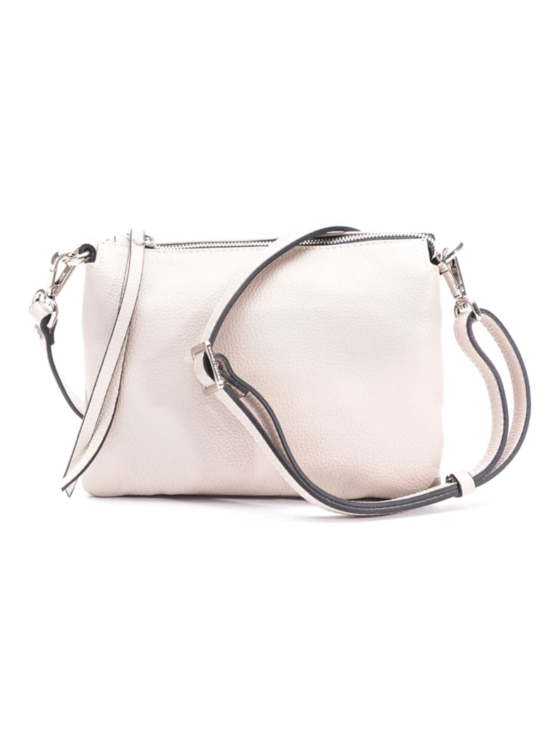 Gianni Chiarini Leather Shoulder Bag - NUDE