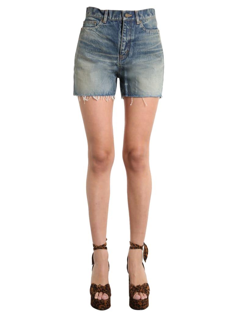 Saint Laurent Denim Shorts - BLU