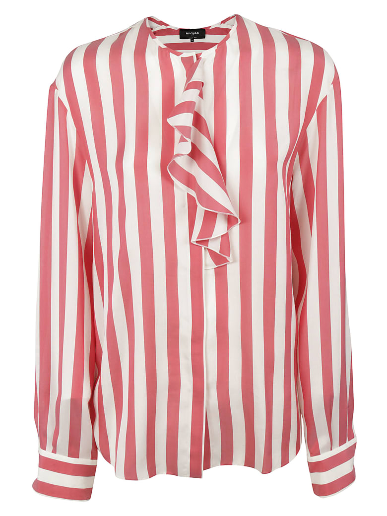 Rochas Striped Shirt - White/red