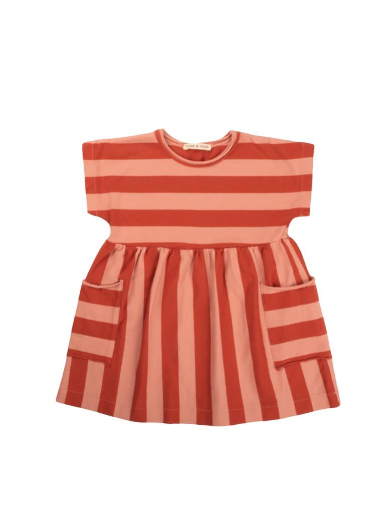 Babe & Tess Pink / Red Striped Dress - Pink/Red