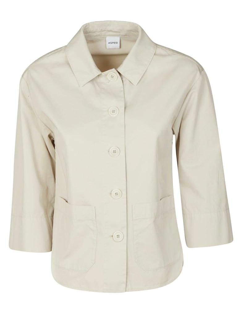 Aspesi Side Pocket Buttoned Jacket - Stucco