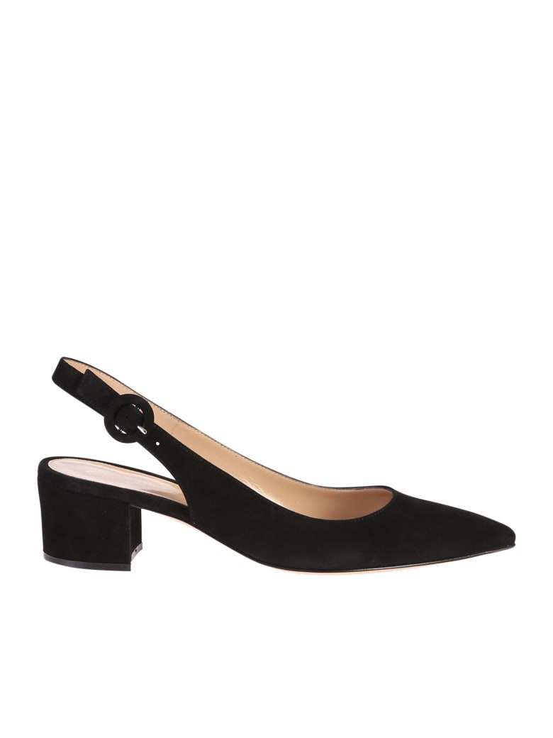 Gianvito Rossi Suede Leather Shoes - Black