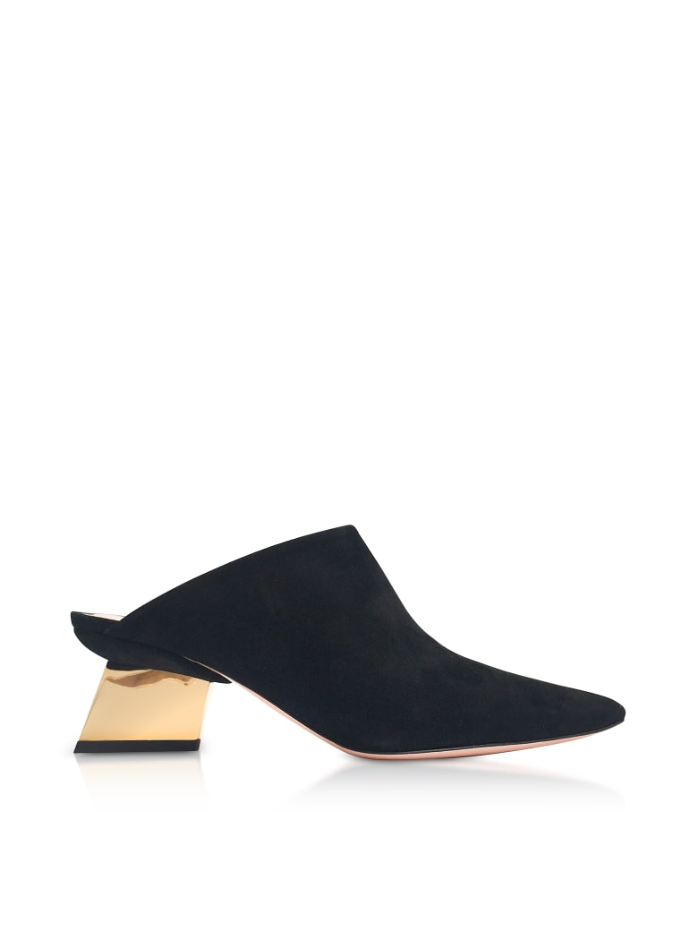 Nicholas Kirkwood Black Suede 55mm Veronika Mules - Black