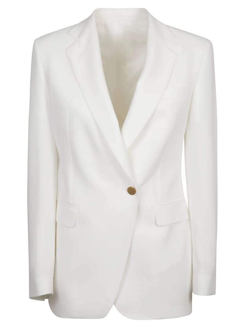 Tagliatore One Buttoned Plain Blazer - White