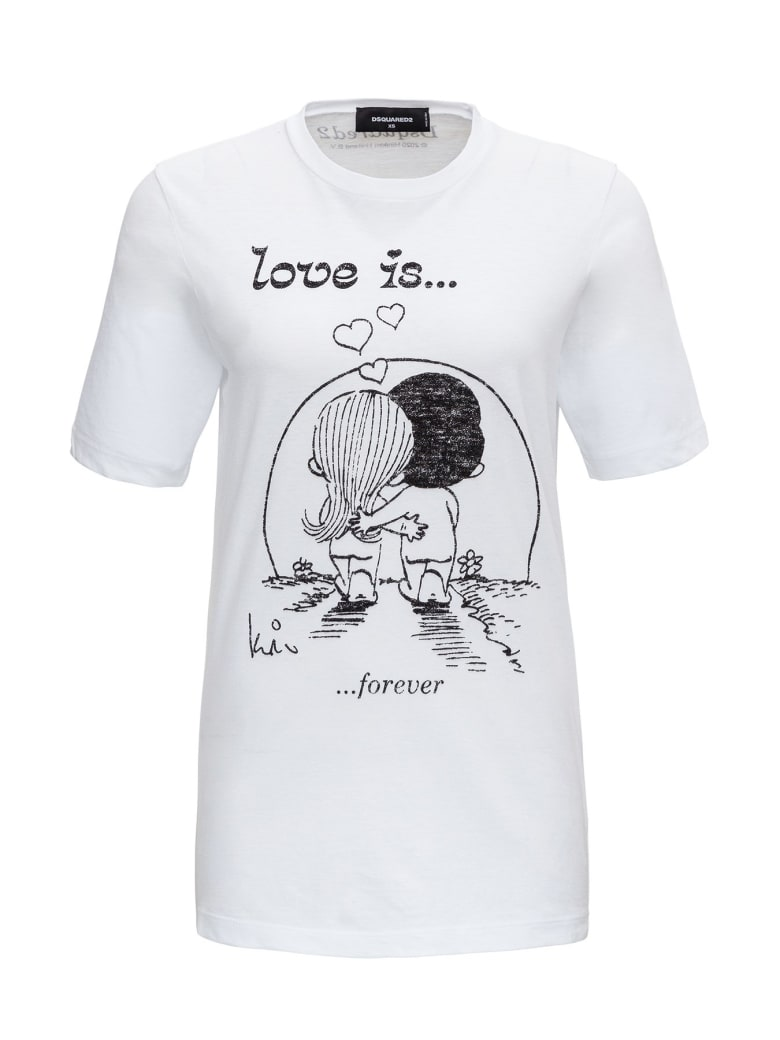 """Dsquared2 """"love Is ..."""" T-shirt - White"""