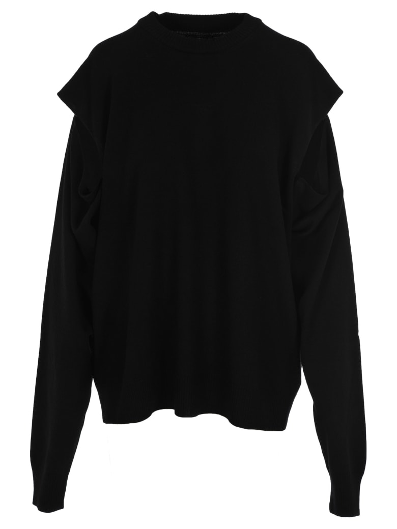 Maison Margiela Martin Margiela Cut Out Details Sweater - BLACK
