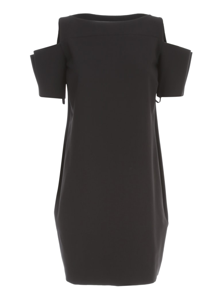 La Petit Robe Di Chiara Boni Dress Boat Neck W/naked Shoulder - Black