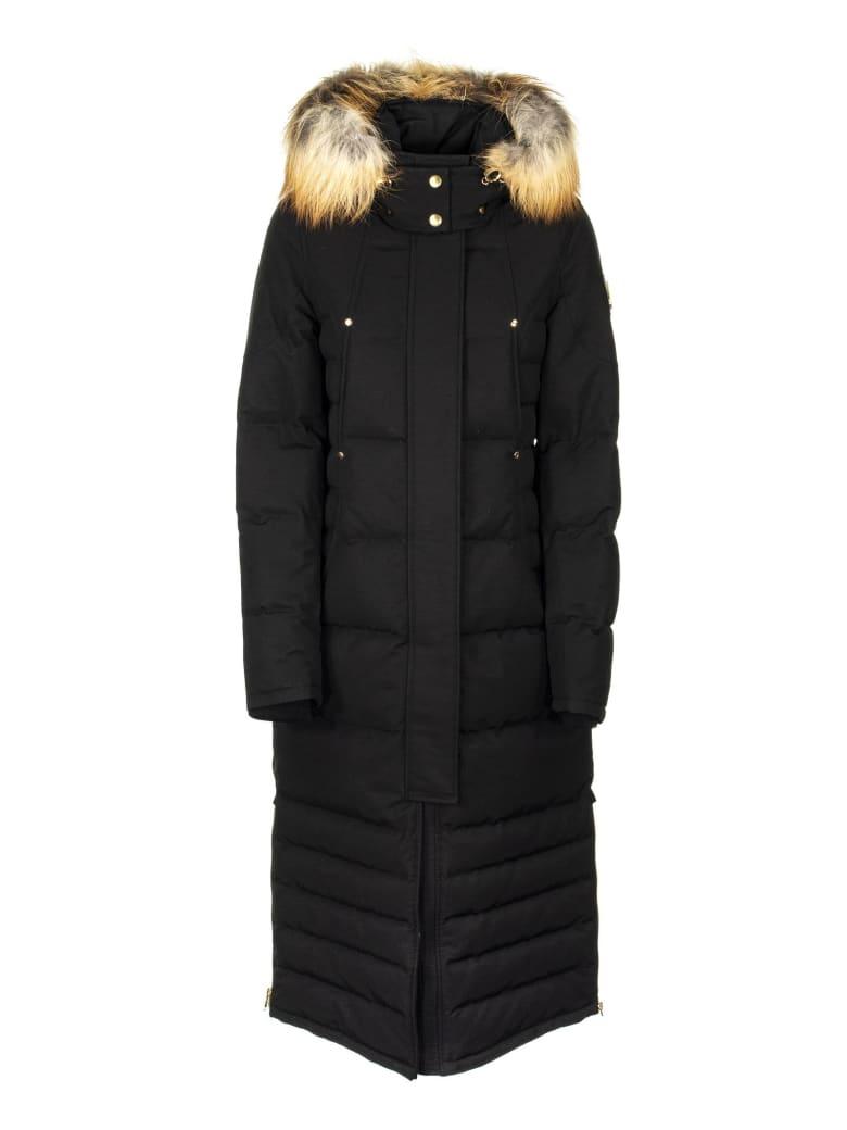 Moose Knuckles Ecoole Parka Coat Black/gold - Black/gold