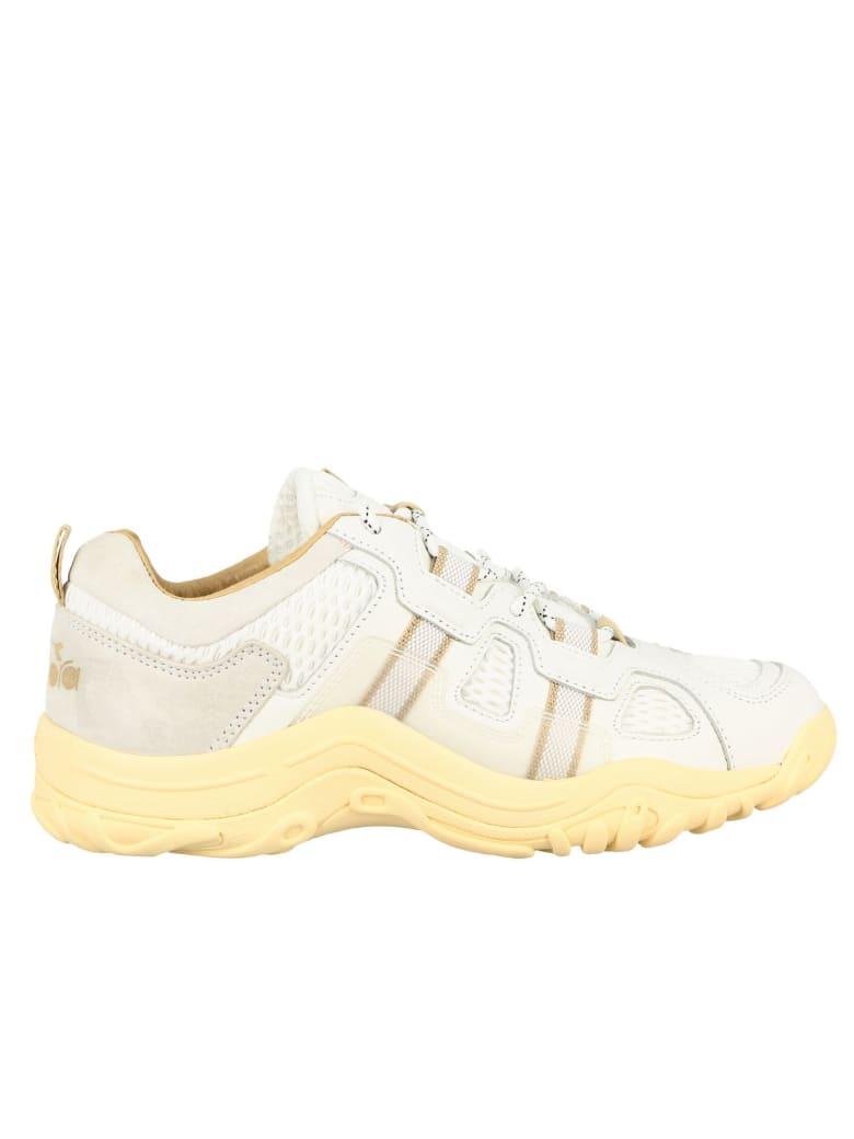 Diadora Sneakers Alpaca Diadora Sneakers In Mesh Leather And Suede - white
