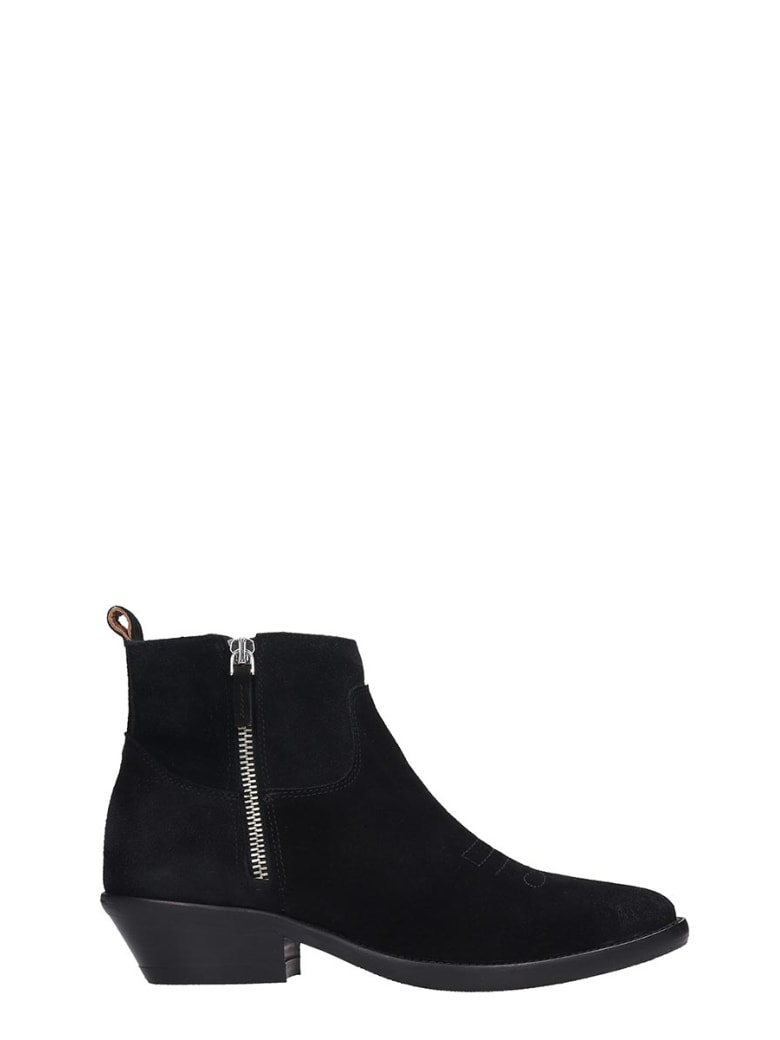 The Seller Texan Ankle Boots In Black Suede - black