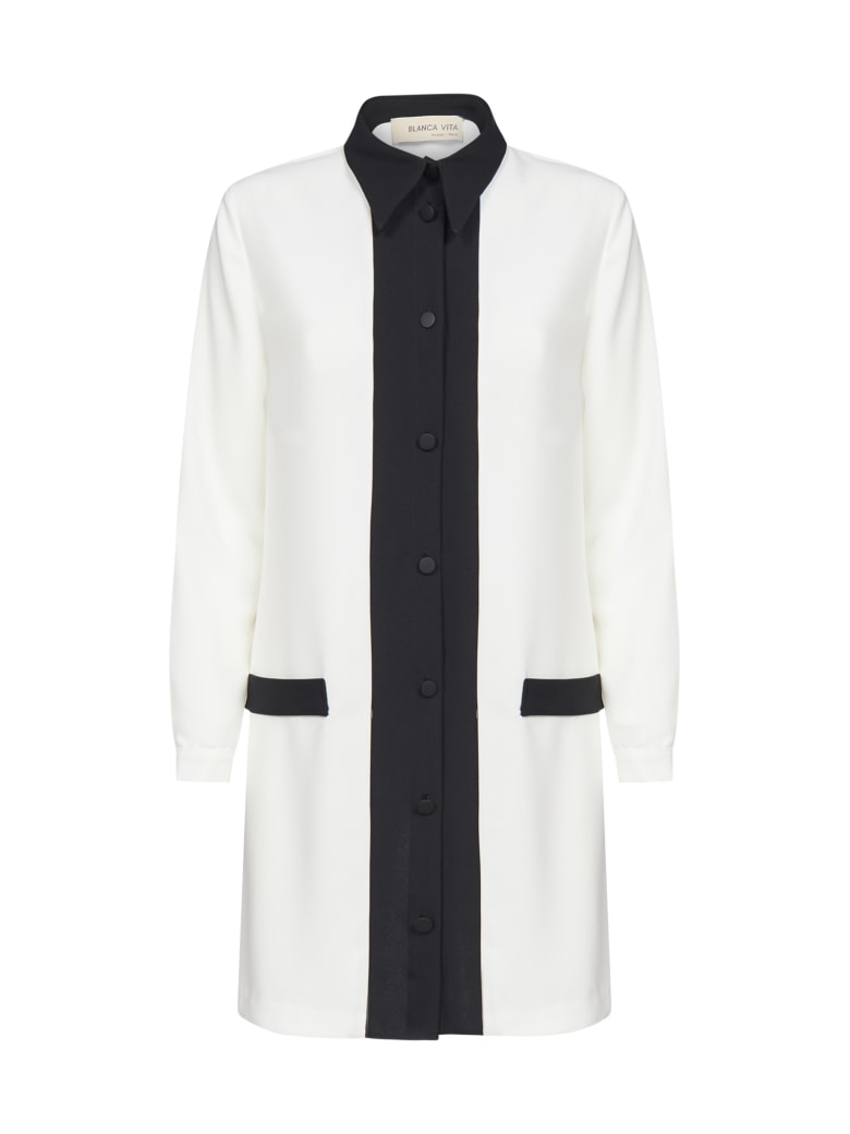 Blanca Vita Cinzia Shirt Dress - Bianco/nero