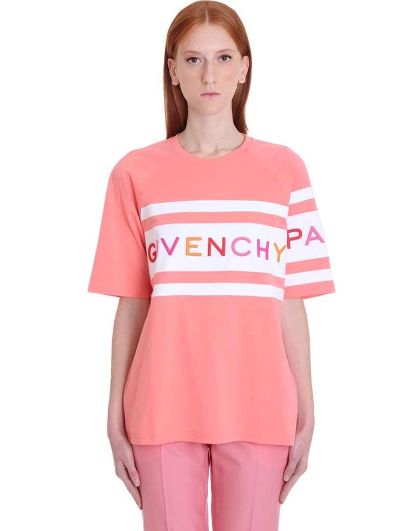 Givenchy T-shirt In Rose-pink Cotton - rose-pink