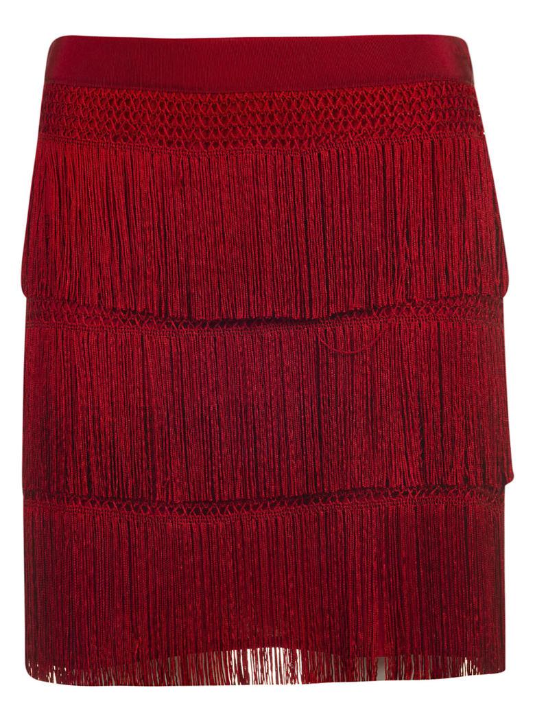 Alberta Ferretti Fringe Skirt - C
