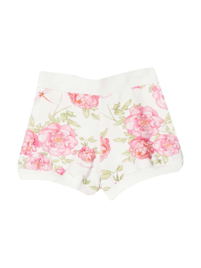 Monnalisa Monnalisa Patterned Shorts - Panna/rosa