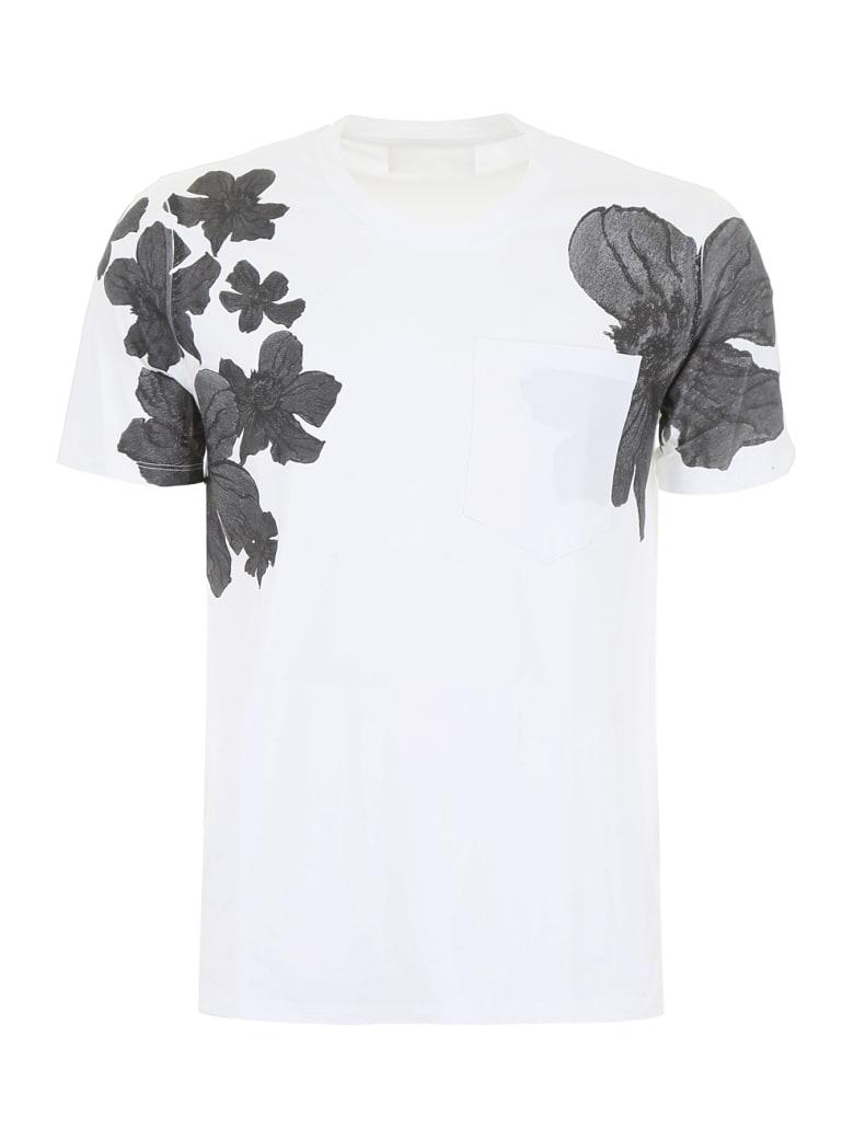 Neil Barrett Floral-printed T-shirt - WHITE (White)