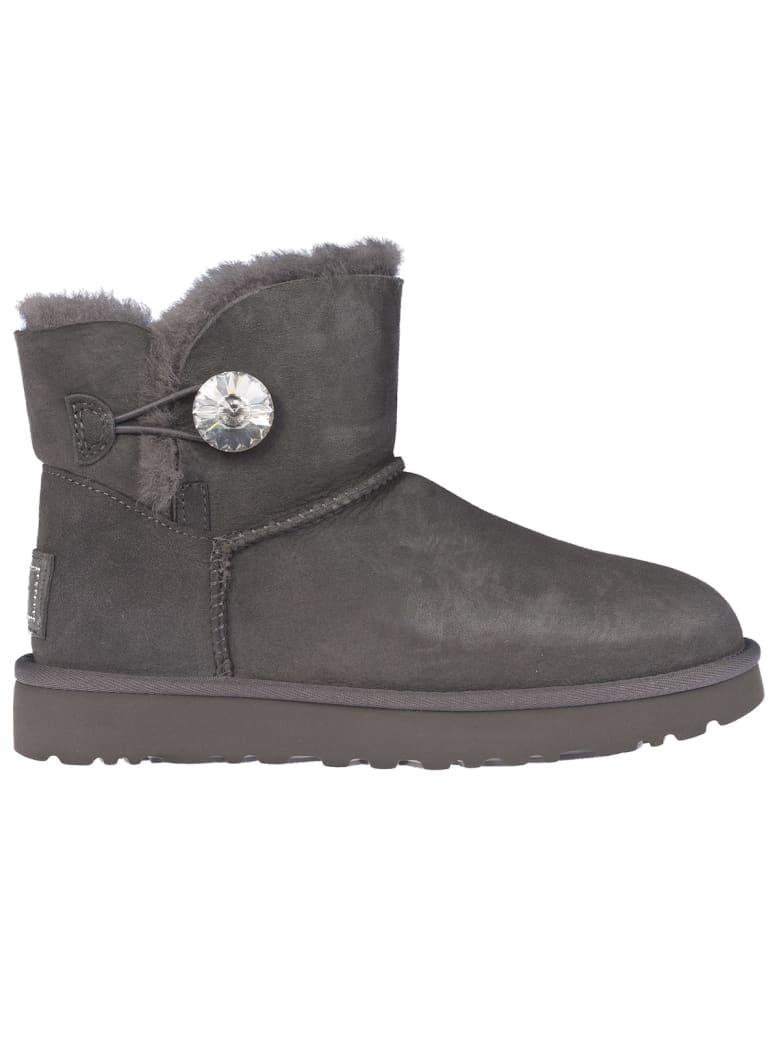 UGG Mini Bailey Button II womens us 10 eu 41 gray grey boots