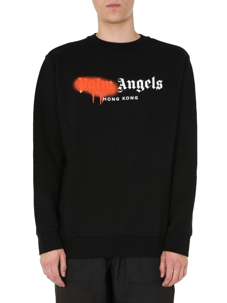 Palm Angels Round Neck Sweatshirt - NERO