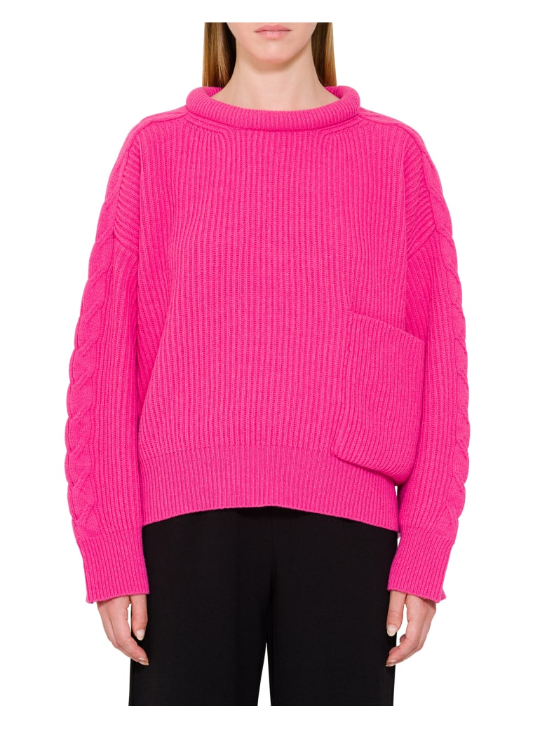 Circus Hotel Front Pocket Ribbed Sweater -  Bubble