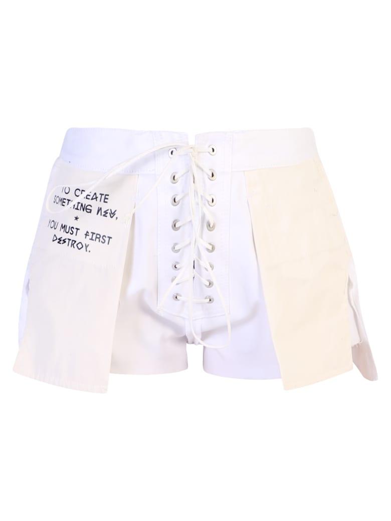 Ben Taverniti Unravel Project Cotton Shorts - White