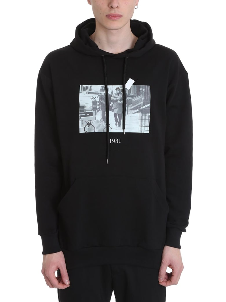 Throwback Donnie Black Cotton Hoodie - black