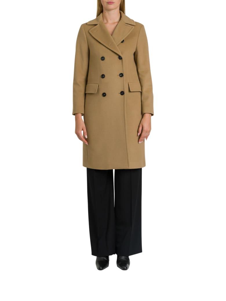 Paltò Saville  Double Breatsed Coat - Beige