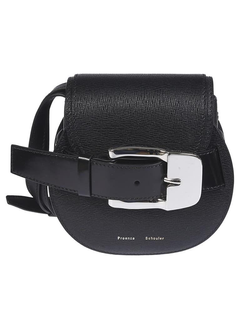 Proenza Schouler Buckled Shoulder Bag - BLACK