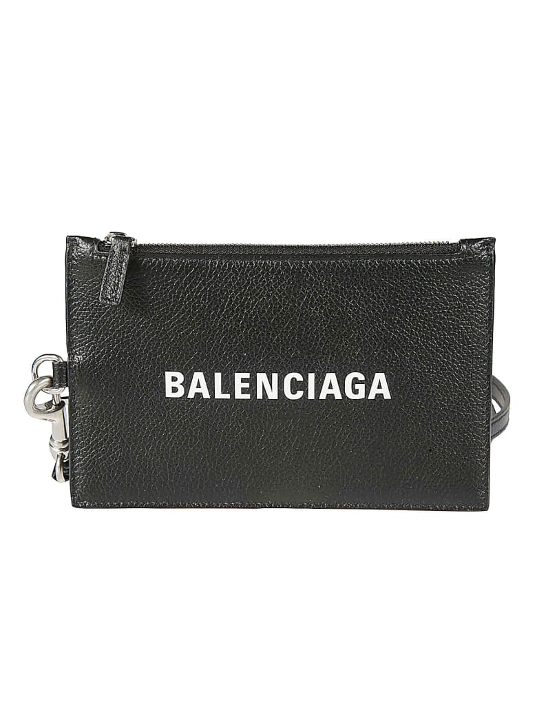 Balenciaga Cash Passport & Photo Zip Holder - Nero