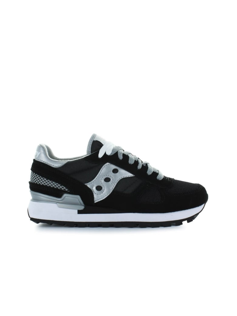 purchase cheap 098a8 17552 Best price on the market at italist | Saucony Saucony Originals Shadow  Black/silver Sneaker
