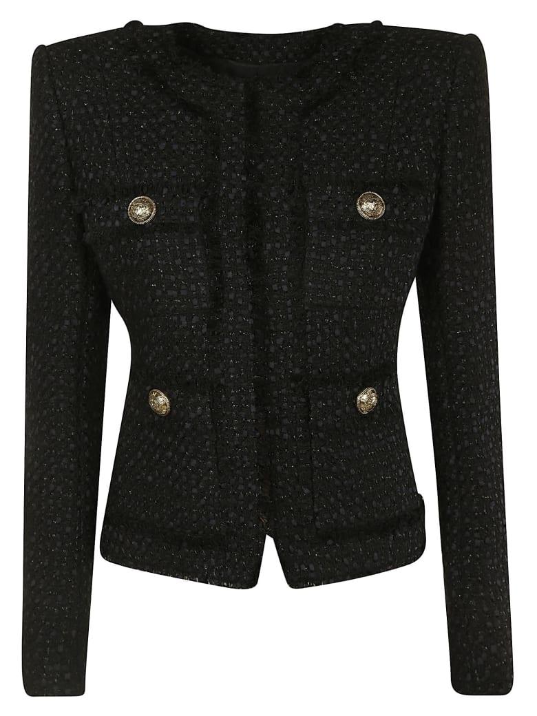 Balmain Crop Button-embellished Jacket - Black