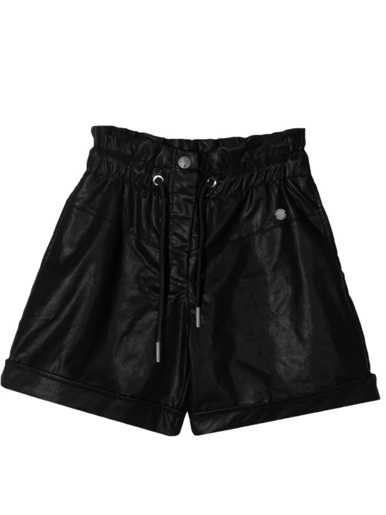 Alberta Ferretti Black Faux Leather Shorts - Nero