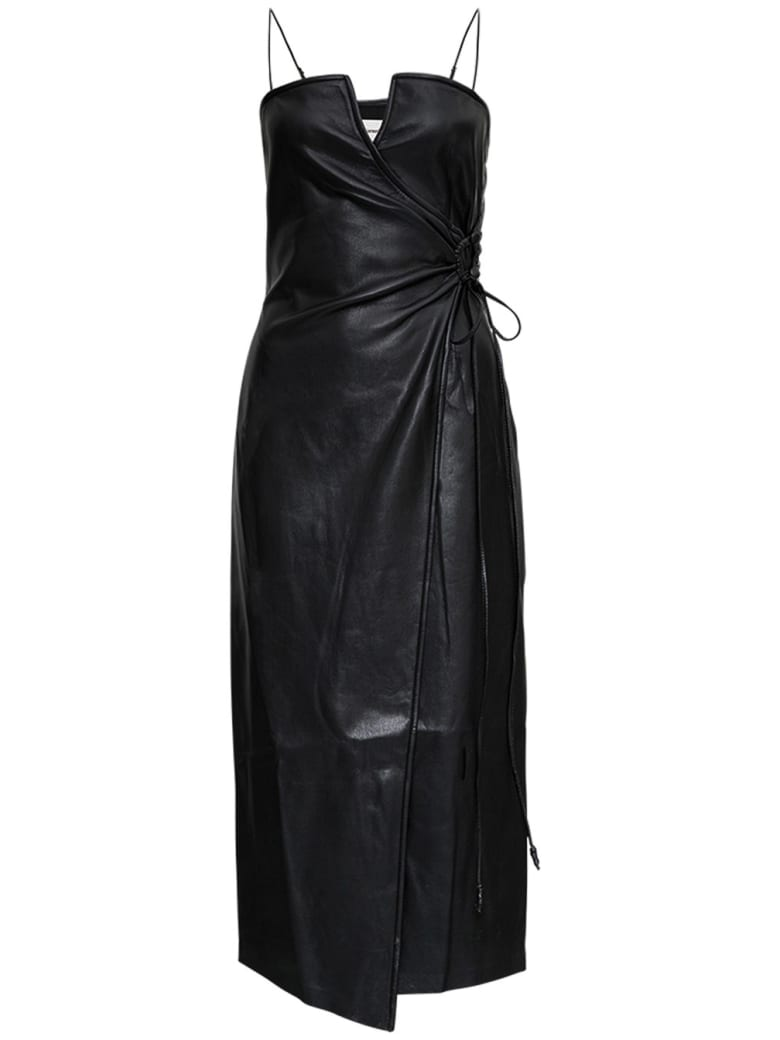Nanushka Anubis Dress In Black Vegan Leather - Black