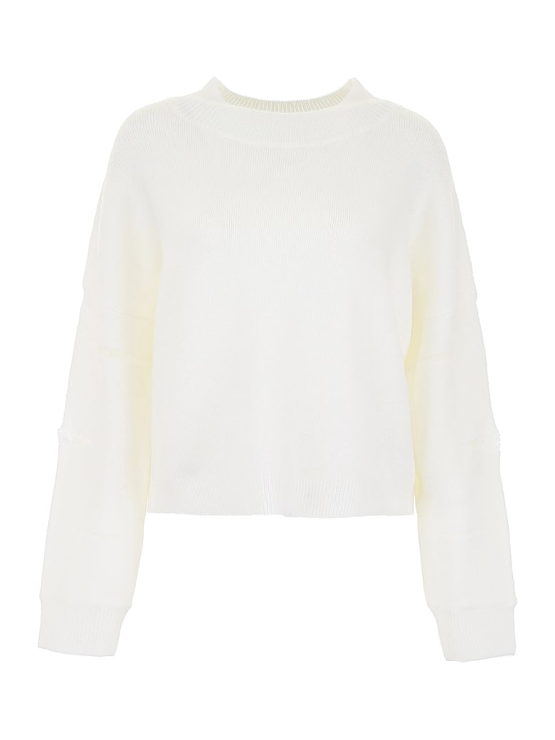 RTA Destroyed Pullover - WHITE