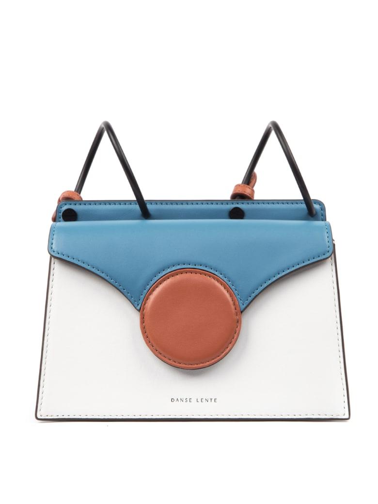 DANSE LENTE Phoebe Multicolored Leather Bag - Azule/white/orange
