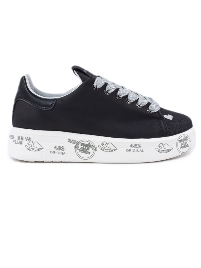 Premiata Belle Sneaker In Black - Nero