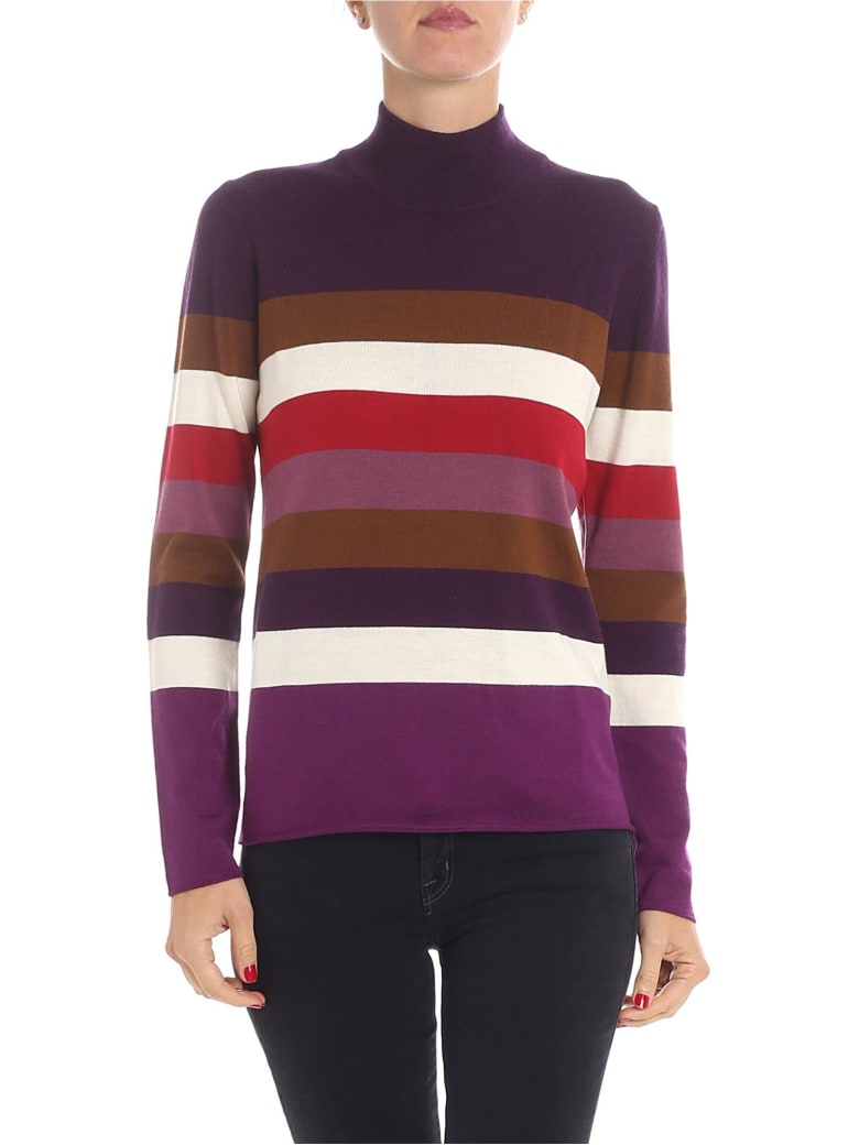 Altea Stripe Knit Pullover - Violet
