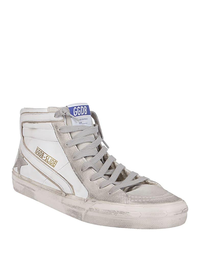 Golden Goose White Leather Slide Sneakers - White