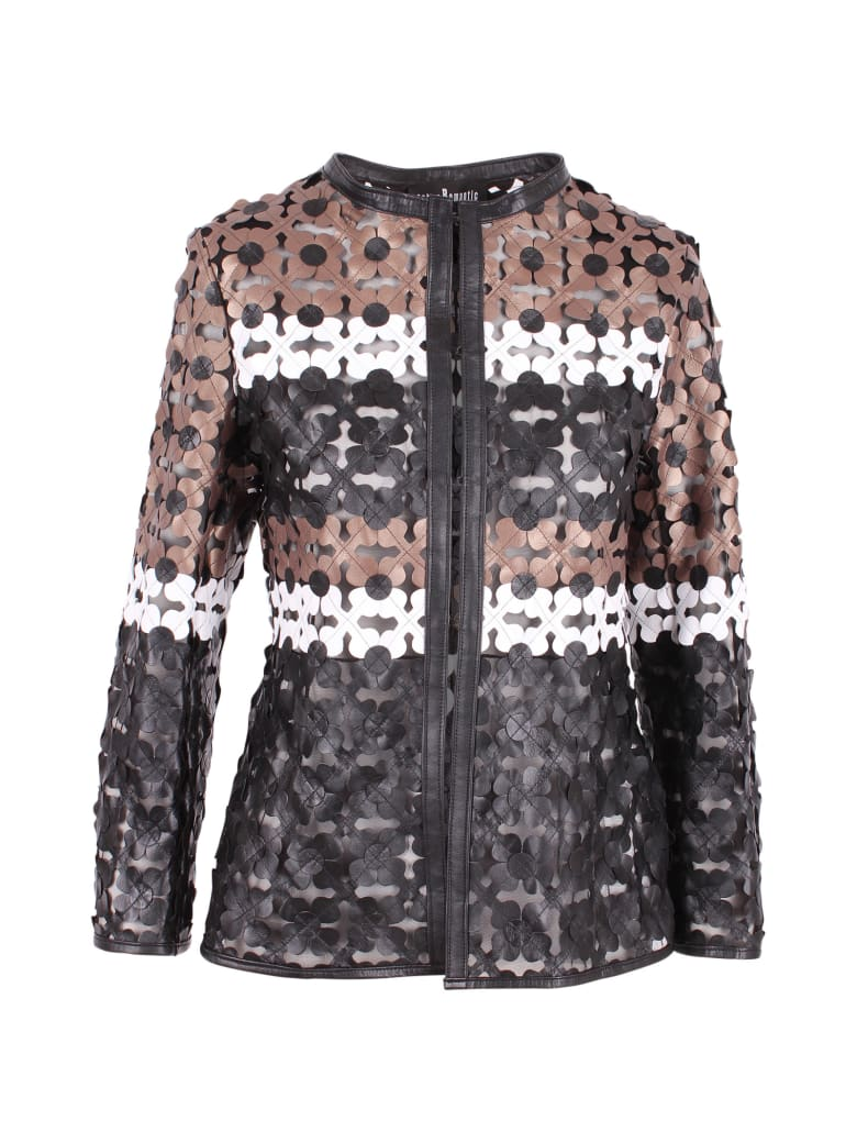 Caban Romantic Leather Jacket - Multi Brown