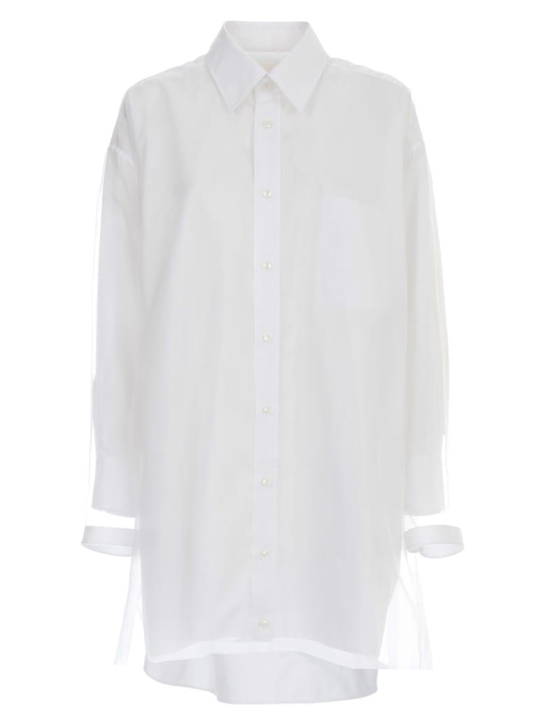 Maison Margiela Popeline Cotton Dress - White