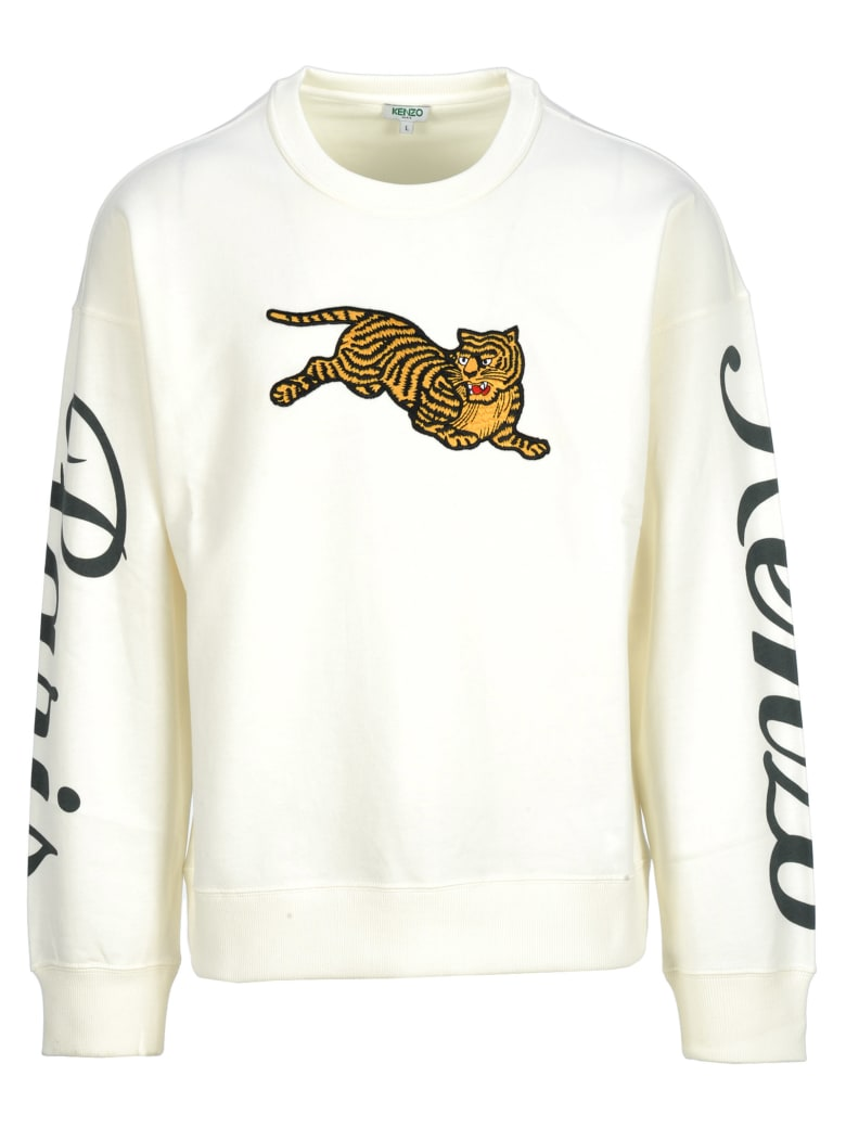 Best price on the market at italist | Kenzo Kenzo Kenzo Embroidered Jumping Tiger Sweatshirt