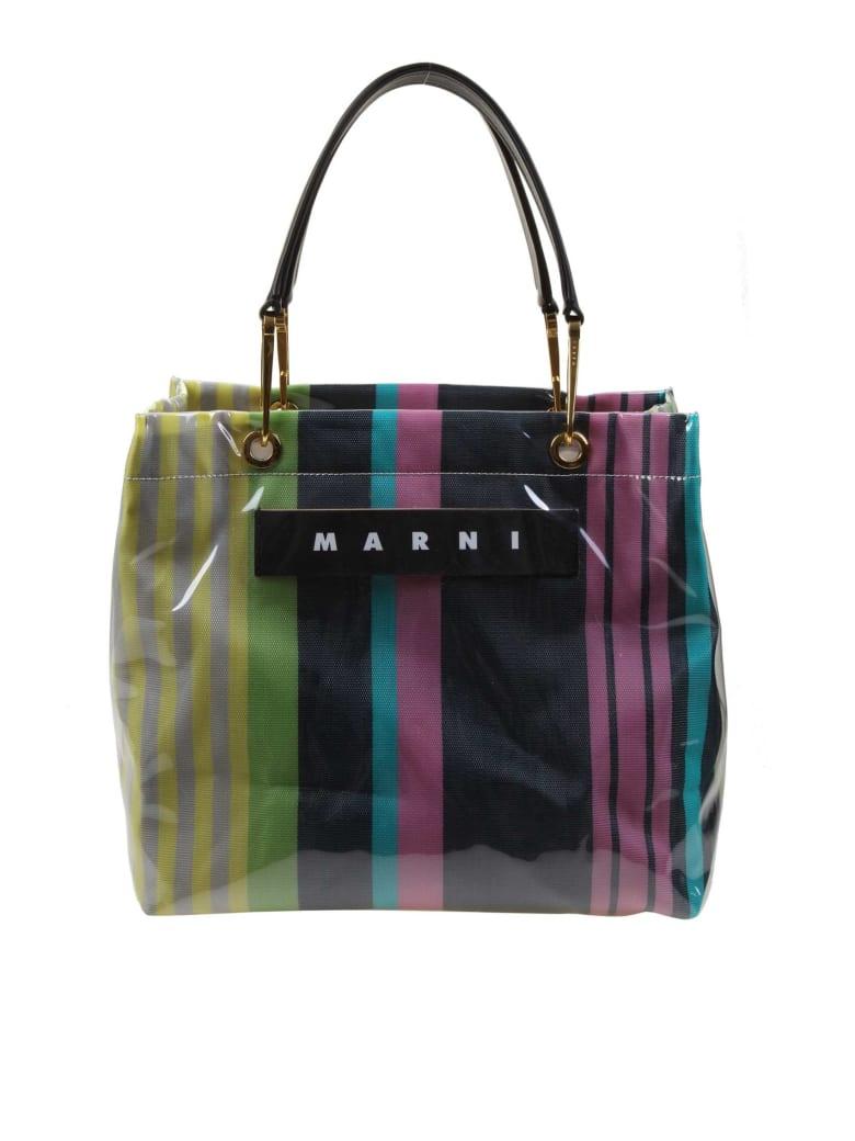 Marni Shopping Glossy Grip Multi-colored Polyamide - Blu/Yellow