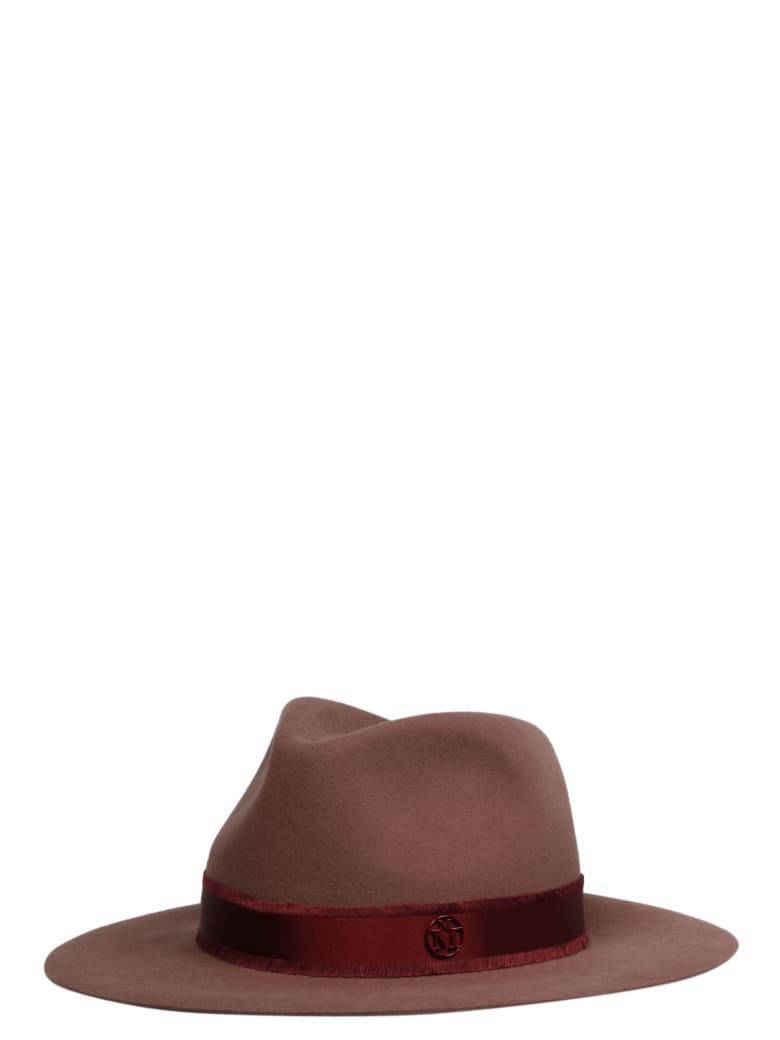 Maison Michel Rico Panama Hat - Red