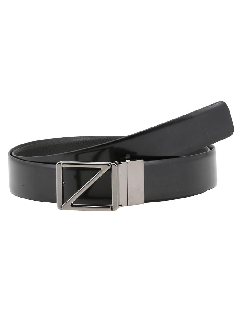 Ermenegildo Zegna Leather Belt - BLACK