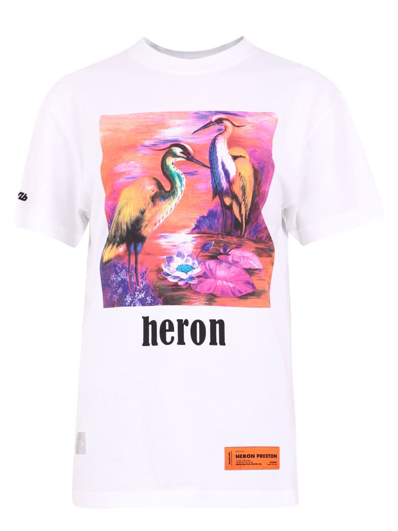 HERON PRESTON Printed T-shirt - White