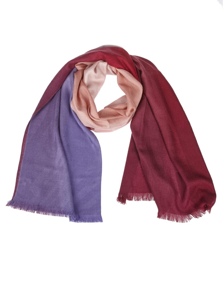 Paul Smith Wine-colored Shaded Effect Scarf - Multicolor