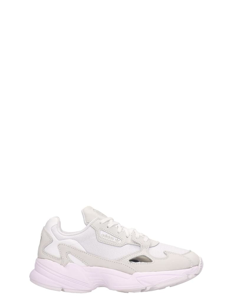 Best price on the market at italist | Adidas Adidas Falcon W White Fabric Sneakers