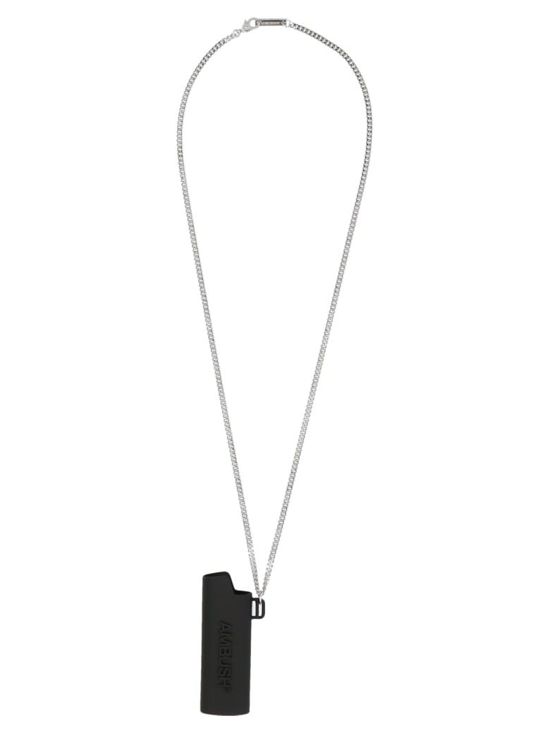 AMBUSH 'logo Lighter Case' Necklace - Black