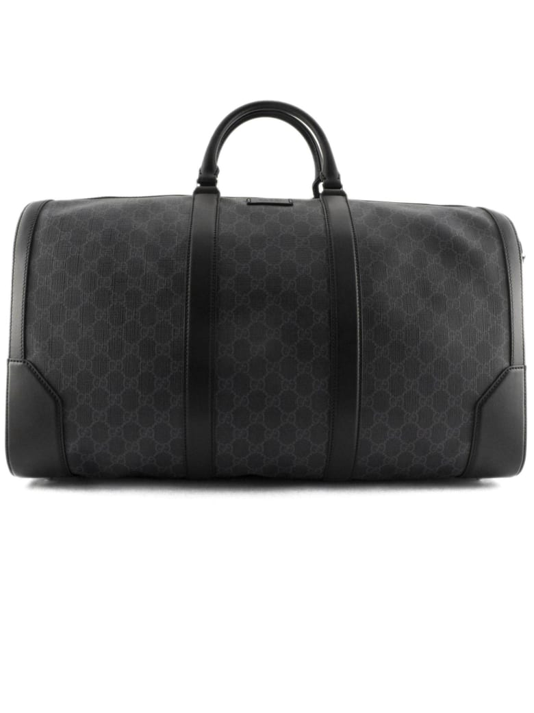 Gucci Black/grey Soft Gg Supreme Carry-on Duffle - Nero